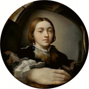 Das erste in der Kunstgeschichte bekannte Selfie stammt von dem italienischen Maler Parmigianino aus dem Jahre 1523 und hängt im Wiener KHM