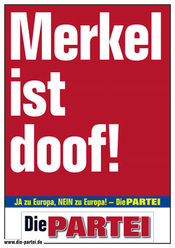 Merkel doof EUROPA2014 DIN A2 gr