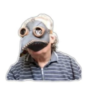 Rupi mit Schnabelmaske