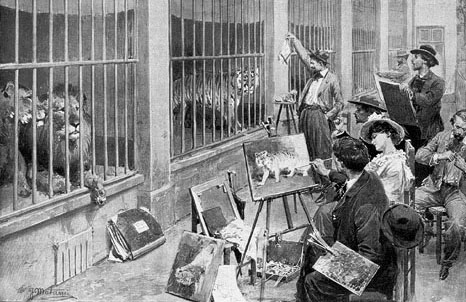 Animal artists at the Jardin des Plantes