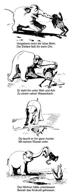 Wilhelm Busch Die Rache des Elefanten